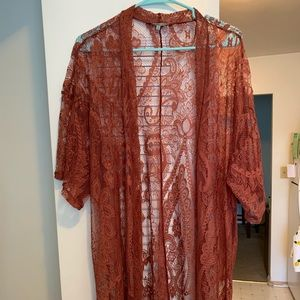 Lace Kimono from Charlotte Russe